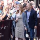 Jessica Chastain Leaves hotel Martinez in Cannes - 454 x 655