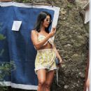 Kourtney Kardashian – Shopping in Portofino