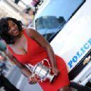 Serena Williams - 2008 US Open Winner Trophy Photoshoot