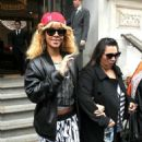 Rihanna Checks Out In London