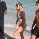 Ellie Goulding with boyfriend Dougie Poynter on Miami Beach January 5,2015 - 447 x 594