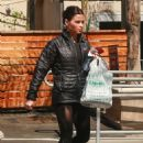 Jenna Dewan Tatum in Tights at Poquito Mas in Studio City