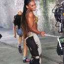 Alexandra Burke Shooting the Let It Go Video in 2012 - 454 x 681