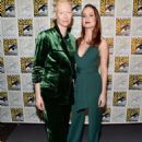 Tilda Swinton and Brie Larson at Comic-con 2016 in San Diego - 454 x 605