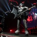 Gene Simmons of KISS performs during their End Of The Road World Tour at The Forum on February 16, 2019 in Inglewood, California - 454 x 416