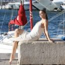 Barbara Palvin on a photoshoot in St. Tropez