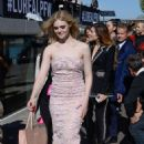 Elle Fanning – Arriving at the Aftershow of the L'Oreal Fashion Show in Paris