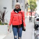 Kimberly Wyatt in Red Jacket – Out in London - 454 x 670