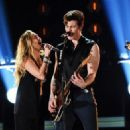 Miley Cyrus and Shawn Mendes At The 61st Annual Grammy Awards - Show