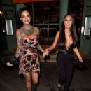 Jemma Lucy and Yazmin Oukhellou – Leaving San Carlo Restaurant in Manchester - 454 x 563