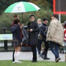 Big Time Rush were spotted their new movie Big Time Movie in Vancouver, October 11
