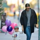 Miranda Kerr and Flynn seen enjoying a Thanksgiving day stroll together while out and about in New York City November 22, 2012