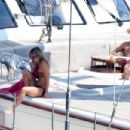 Annabelle Wallis in Bikini on a Yacht in Positano - 454 x 303