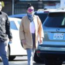 Amanda Bynes – Grocery run with fiance Paul Michael in Los Angeles