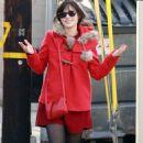 Zooey Deschanel's Red Hot Holiday Retail Romp