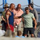 Zac Efron on the set of 'Baywatch,' filming in Savannah, Georgia on April 19, 2016
