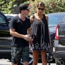 Elisabetta Canalis and her hubby are spotted out running errands in West Hollywood, California on August 29, 2015
