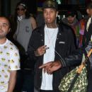 Tyga made his way through Sydney airport, being mobbed by fans ahead of his tour stop in Sydney, Australia on April 9, 2016 - 347 x 600
