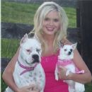 Candice With Her Two Dogs Jada & Jaelyn
