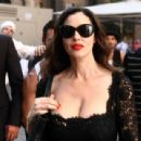 Monica Bellucci - Filming A Commercial For Martini Gold In Rome - June 30, 2010