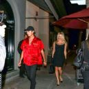 Pamela Anderson and Brandon Thomas Lee are seen in Los Angeles, California