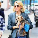 Naomi Watts is all smiles while out and about in New York City, New York with her mom Myfanwy Edwards Roberts on October 17, 2016
