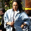 Candice Patton – house hunting in Hollywood - 454 x 734