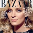Uma Thurman Covers Harper's Bazaar UK February 2012