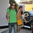Cheryl Cole leaving her music studio