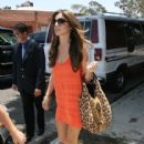Cheryl Cole leaves the London Hotel
