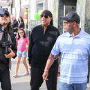 Stevie Wonder is seen in Los Angeles, California