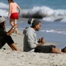 Chris Brown at the Beach