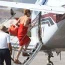 Lindsay Lohan Entering a Private Plane in Mykonos, Greece, August 2016 - 454 x 303