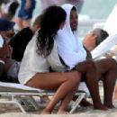 Chanel Iman in Bikini on the beach in Miami - 454 x 302