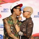 Amber Rose and Wiz Khalifa Attend The 2011 Bet Awards held at The Shrine Auditorium in Los Angeles, California - June 26, 2011 - 396 x 594