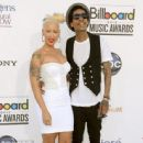 Amber Rose and Wiz Khalifa Arrive at the 2012 Billboard Music Awards held at the MGM Grand Garden Arena in Las Vegas, Nevada - May 20, 2012 - 454 x 444