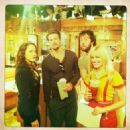 Kat Dennings, Nick Zano, Jonathan Kite and Beth Behrs - 2 Broke Girls - Behind The Scenes - 454 x 454