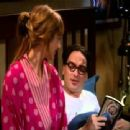 Johnny Galecki and Judy Greer