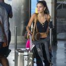 Kim Turnbull – Arrives at Barbados Airport