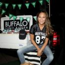 Chrissy Teigen Hosts A Tailgate Party For The Jetspatriots Game In Paramus