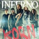 Fieldy, Brian 'Head' Welch, James 'Munky' Shaffer, Ray Luzier, Jonathan Davis - Inferno Magazine Cover [Finland] (August 2013)
