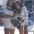 Winnie Harlow – With friends at Il Pastaio restaurant in Beverly Hills - 454 x 671