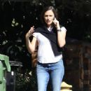 Jennifer Garner – Aeen during a solo walk in Pacific Palisades