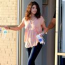 "Selena Gomez stops to get her nails done in St. Petersburg, Florida where she is in town filming ""Spring Breakers"""