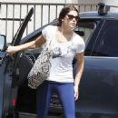 Ashley Greene was seen heading into the gym today, August 2, in Los Angeles, CA