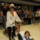 Kourtney Kardashian: at LAX airport
