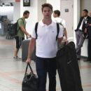 Patrick Schwarzenegger spotted flying out of LAX