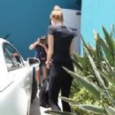 Miley Cyrus was spotted leaving Winsor Studios this morning, July 16
