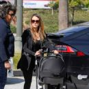 Jessica Alba in Black out in Los Angeles