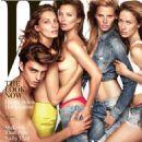 , Daria Werbowy, Kate Moss, Lara Stone, Raquel Zimmerman - W Magazine Cover [United States] (1 November 2014)